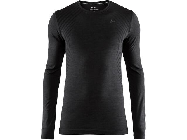 Craft Fuseknit Comfort Rundhals Langarmshirt Herren black